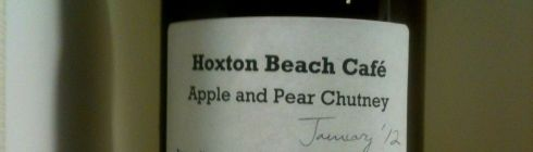 a jar of hoxton beach chutney